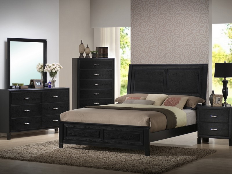Black Wood Headboard Queen