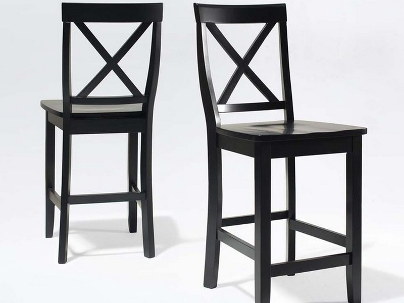 Black Wooden Bar Stools With Back