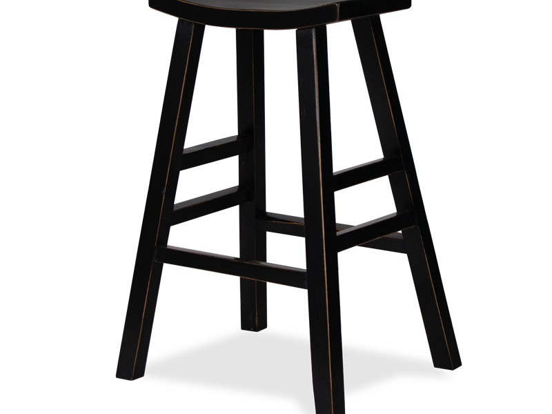 Black Wooden Bar Stools