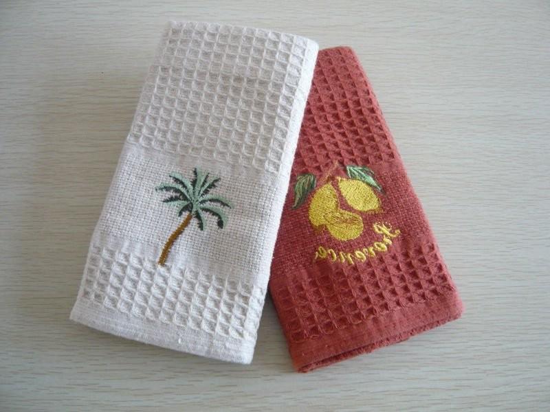 Blank Waffle Weave Kitchen Towels