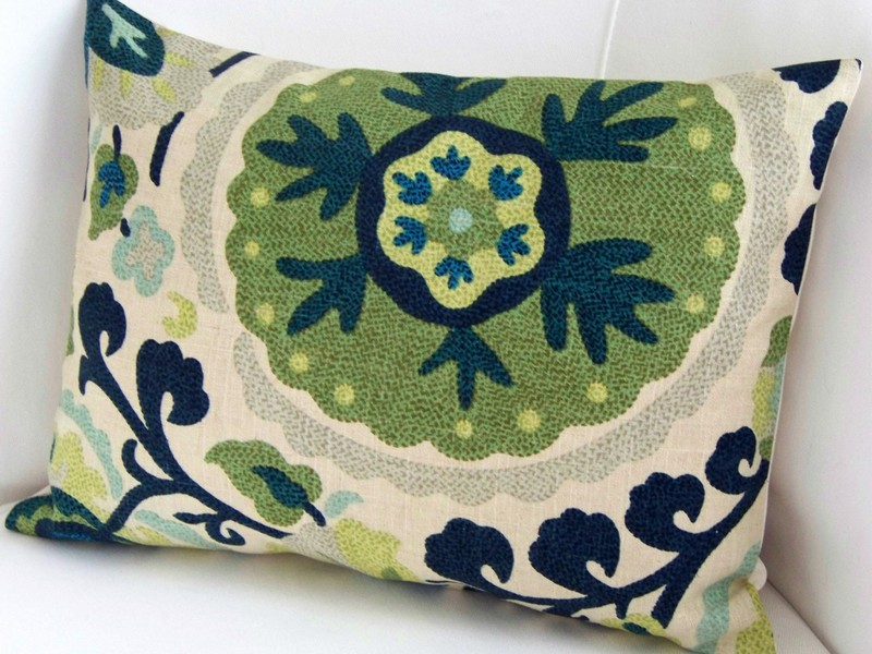 Blue And Green Throw Pillows