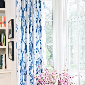 Blue And White Ikat Curtains
