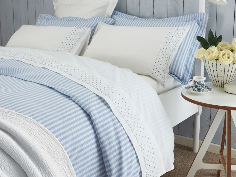 Blue And White Striped Duvet Cover