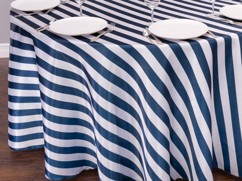 Blue And White Striped Tablecloths