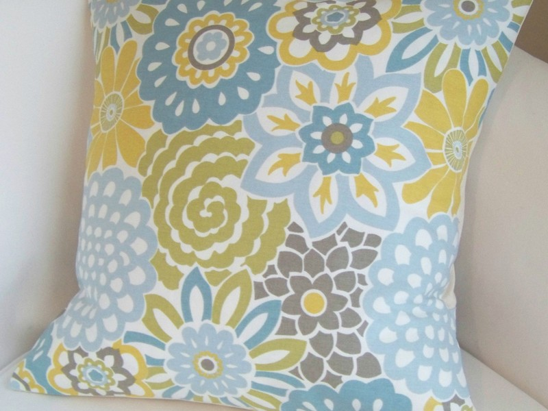 Blue And Yellow Accent Pillows
