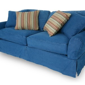 Blue Denim Slipcover Sofa