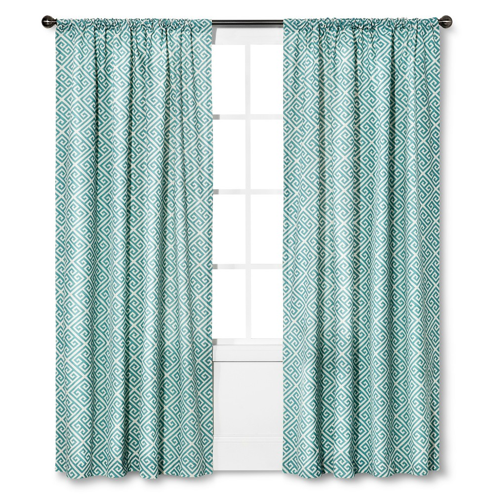 Blue Greek Key Curtains
