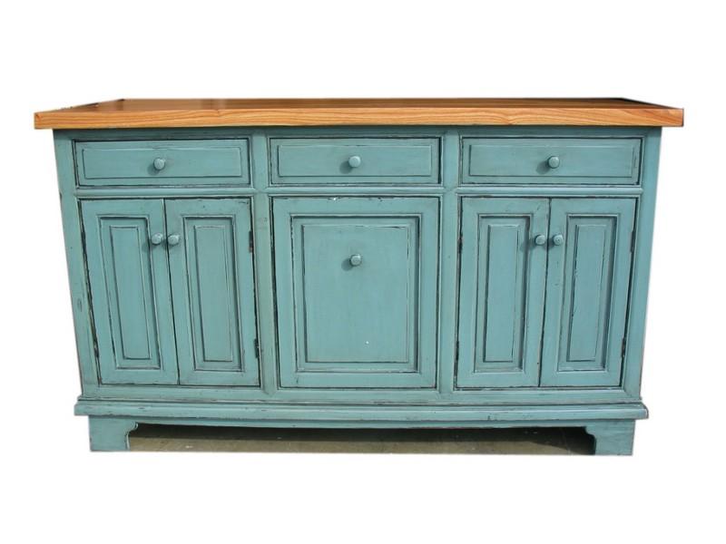 Blue Green Distressed Furniture