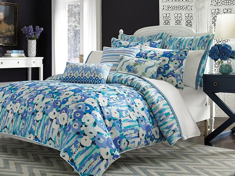 Blue Ikat Bedding