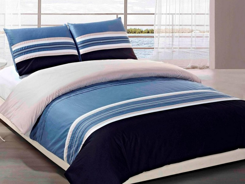 Blue Striped Sheets Queen