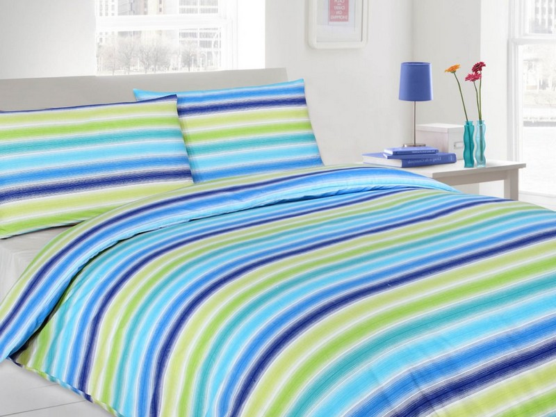 Blue Striped Sheets
