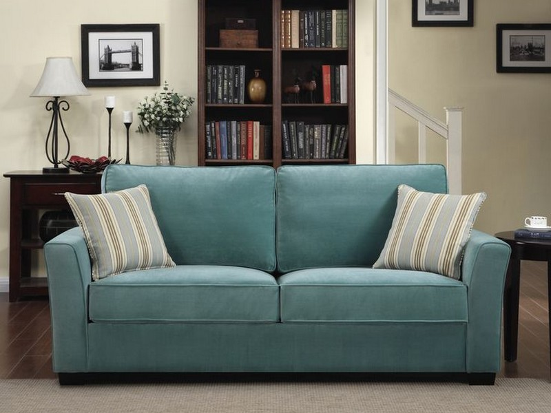 Blue Velvet Sleeper Sofa