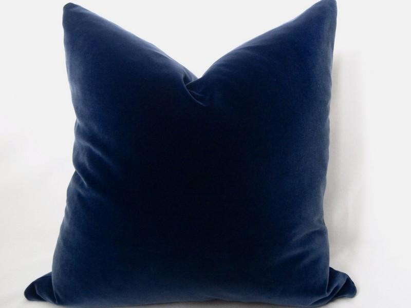 Blue Velvet Throw Pillows