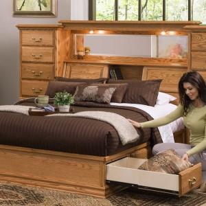 Bookcase Headboard Full Bed