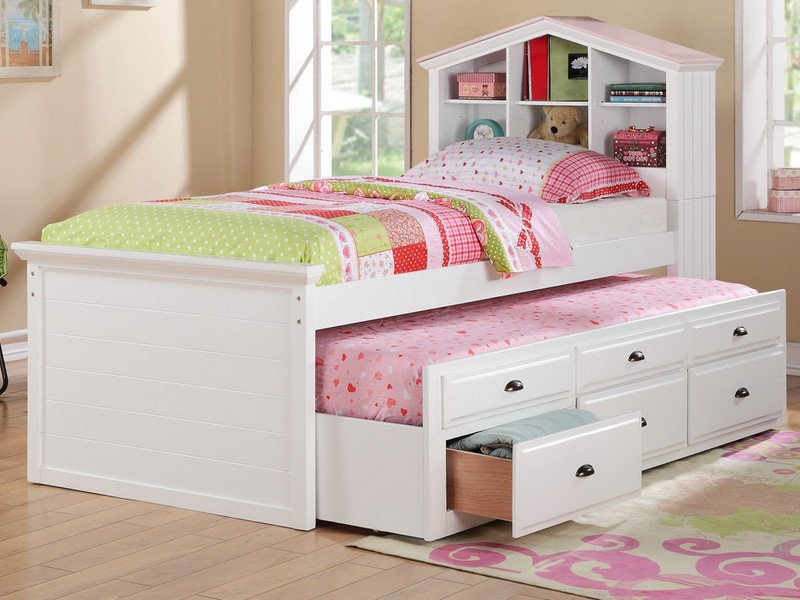 Bookcase Headboard Full Size Bed