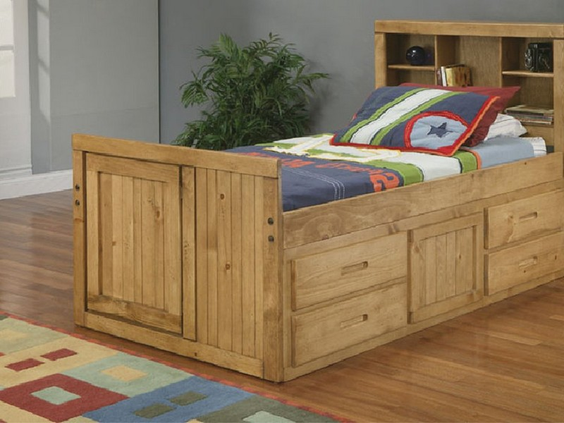 Bookcase Twin Bed With Trundle