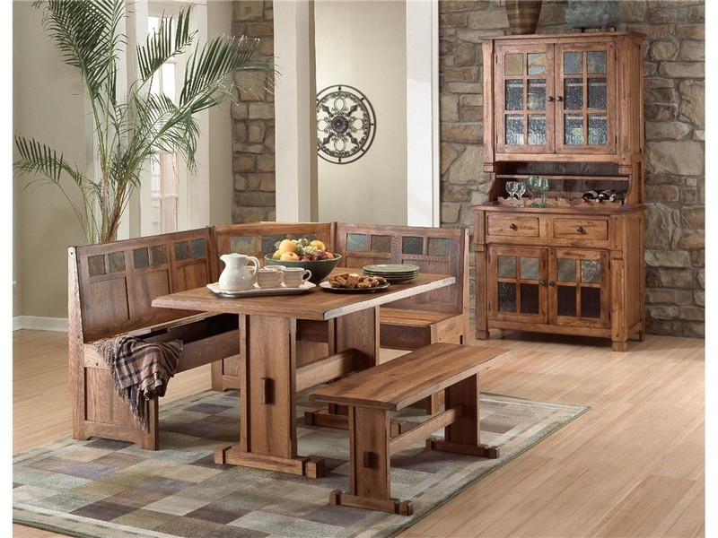 Breakfast Table Set With Bench