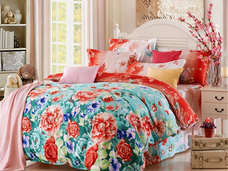Bright Floral Duvet Covers