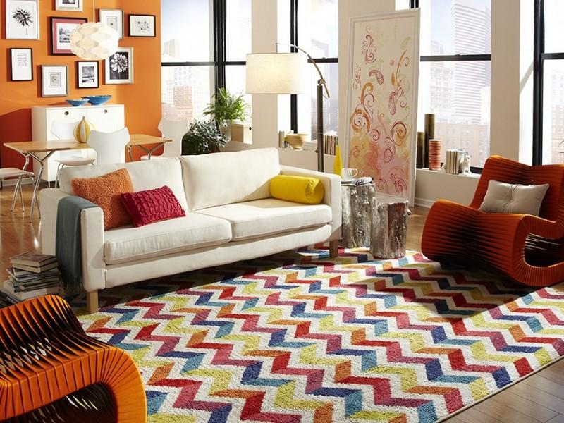 Bright Multi Colored Area Rugs