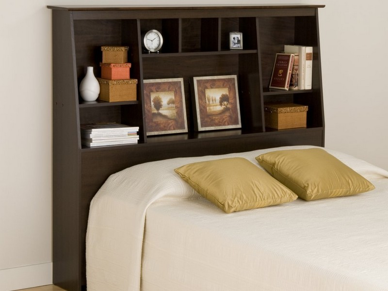 Brisbane Full Queen Storage Headboard Black