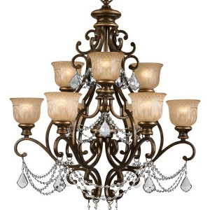 Bronze Chandelier With Crystals