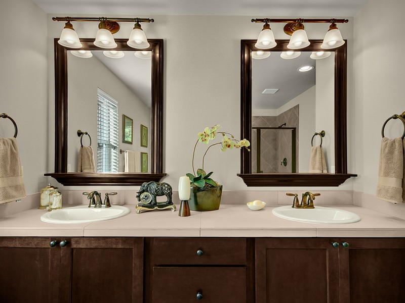 Bronze Framed Bathroom Mirror