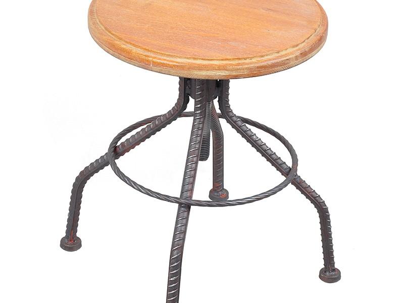 Brown Adjustable Bar Stools