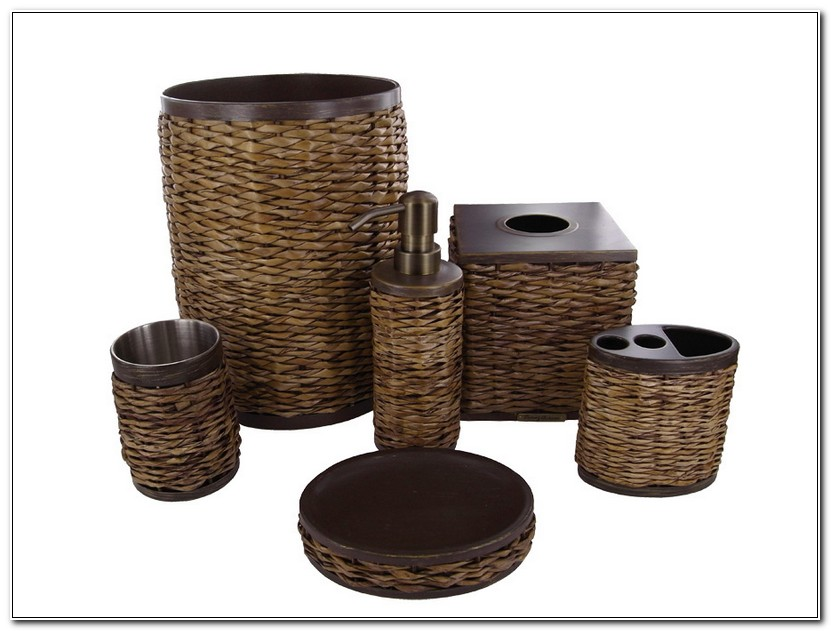 Brown Bathroom Accessory Sets