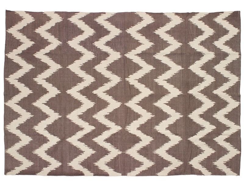 Brown Chevron Rug