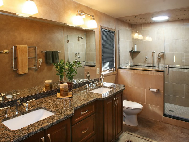 Brown Granite Bathroom Countertops