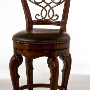 Brown Leather Bar Stools With Back
