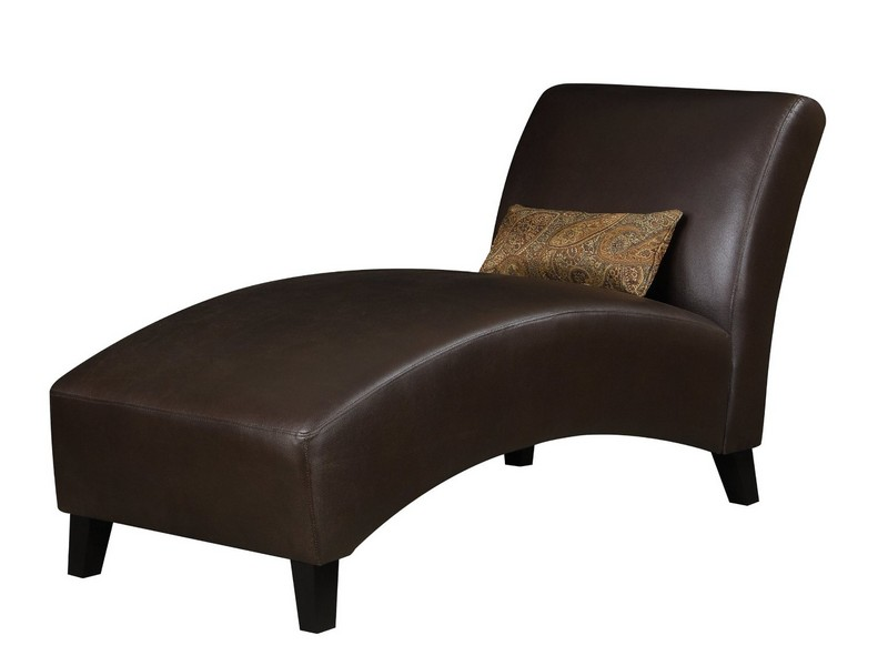 Brown Leather Chaise Lounge Chair