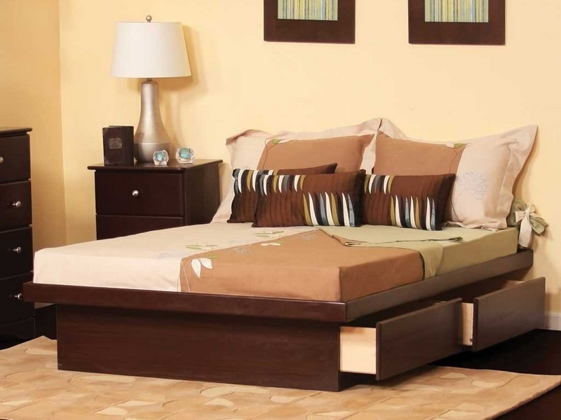 Brown Leather Headboard King Size