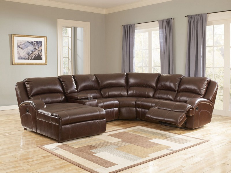Brown Leather Sectional Couches
