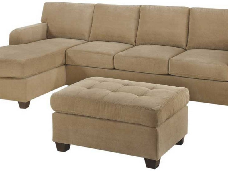 Brown Leather Sleeper Sectional
