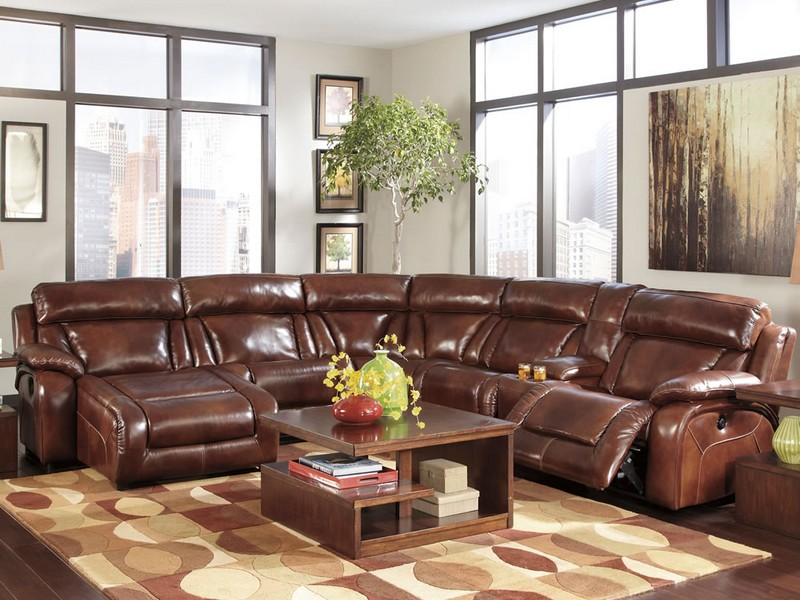 Brown Leather Sofa Sectional