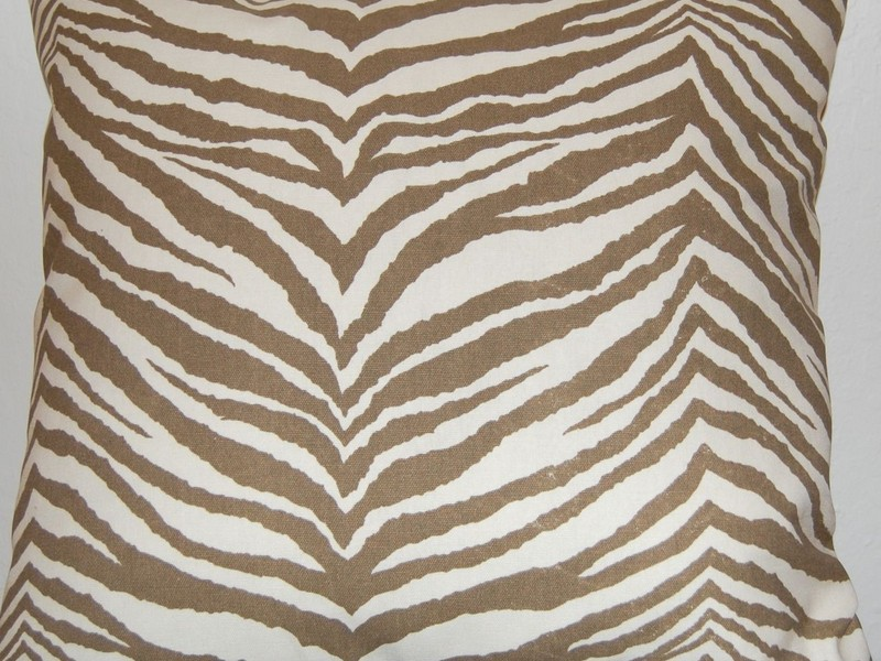 Brown Zebra Print Pillows
