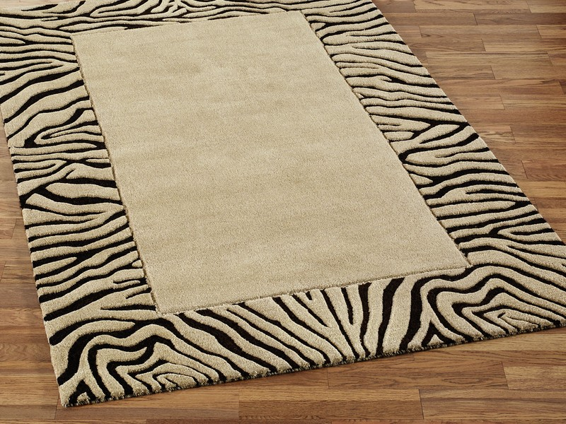 Brown Zebra Rug