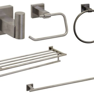 Brushed Nickel Bathroom Accessories Sets