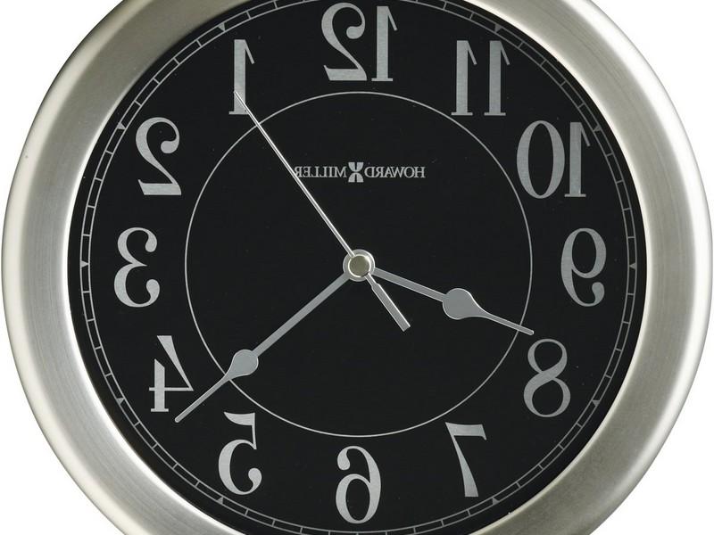 Brushed Nickel Wall Clock