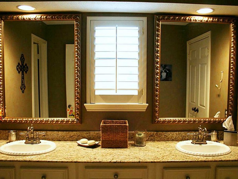 Brushed Nickel Wall Mirror