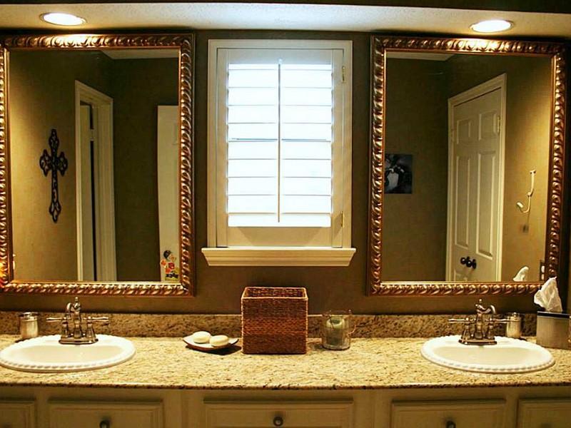 Brushed Nickel Wall Mirror