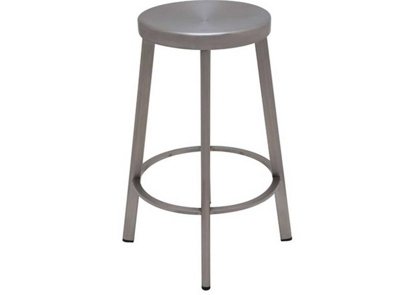 Brushed Stainless Steel Counter Stools