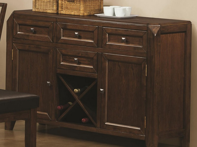 Buffet Table With Wine Storage