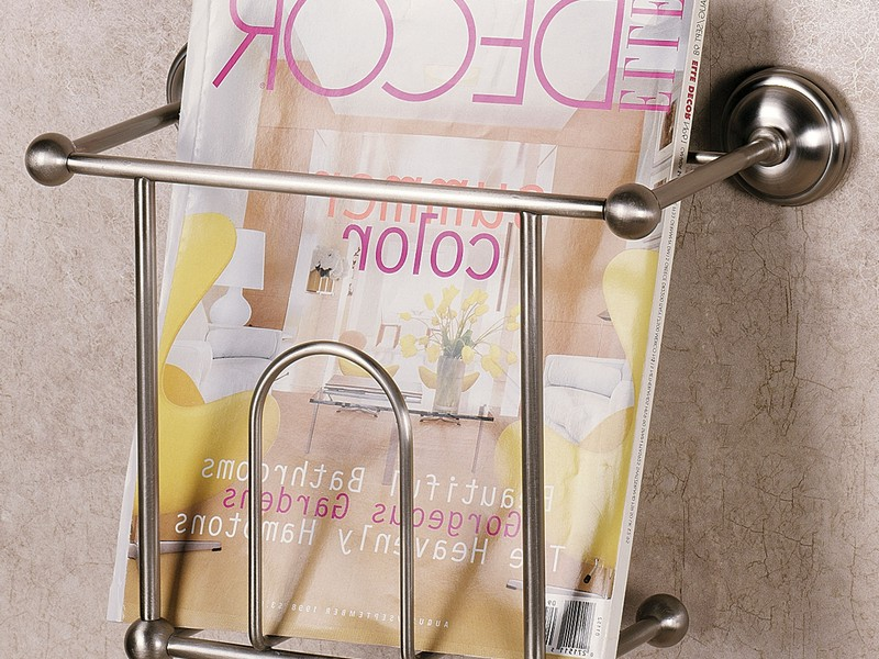 Built In Bathroom Magazine Rack