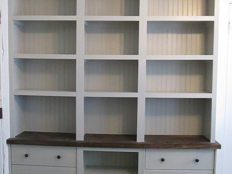 Built In Bookshelves With Drawers