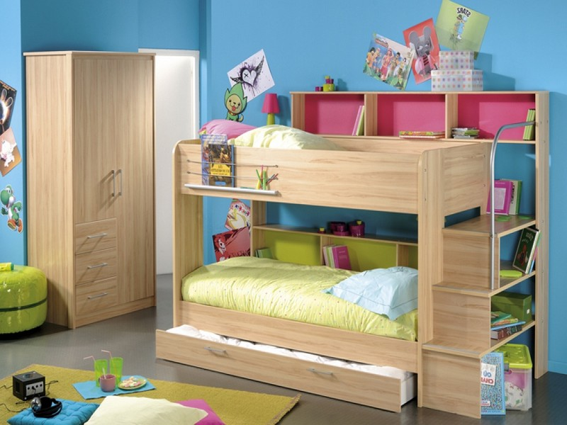 Bunk Bed With Drawers And Trundle
