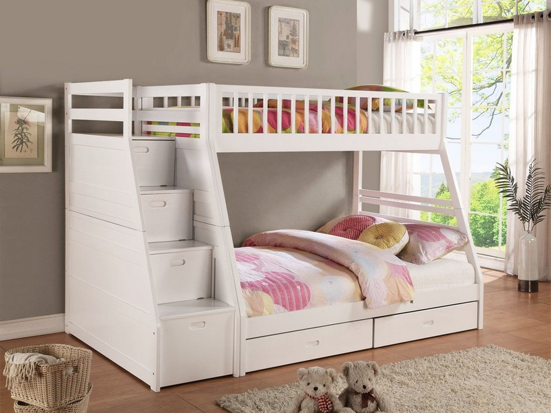 Bunk Bed With Staircase Storage