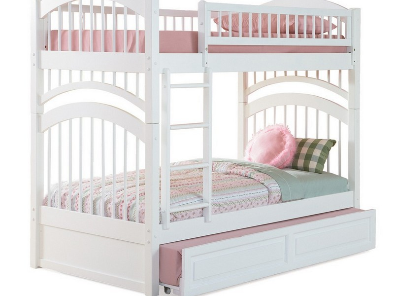 Bunk Bed With Trundle White