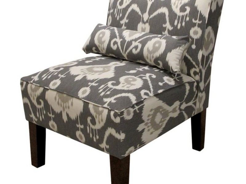 Burke Armless Slipper Chair Khaki Zebra